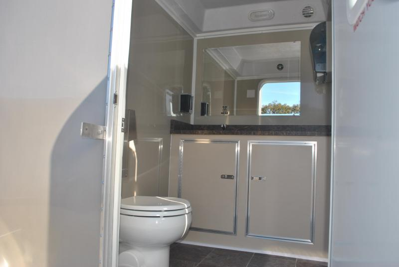 Two station restroom trailer rental right trailers for Bathroom trailer rental