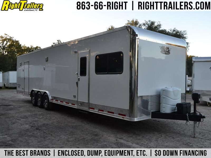 8 5x34 Vintage Trailers Racing Trailer W Living Quarters Right