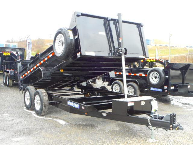 2018 Sure-Trac 82x14 Low Profile 14k Telescopic Dump with Alum Wheels and Spare