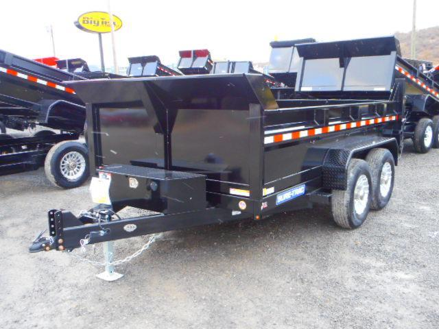 2018 Sure-Trac 82x12 Low Profile 12k Dual Ram Dump with Alum Wheels and Spare