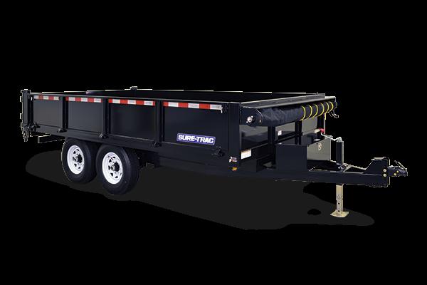 2017 Sure-Trac 96x14 HD Deckover Dump w/Fold-Down Sides Dump Trailer