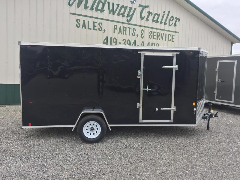 Interstate 6X14 V-Nose Enclosed Cargo Trailer- Black