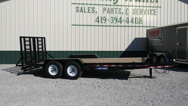 2018 Sure-Trac 7 x 18  Implement Trailer Full Width Ramps 14K