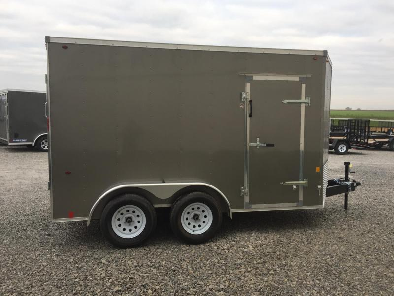 Interstate 7X12 V-Nose Enclosed Cargo Trailer - Pewter
