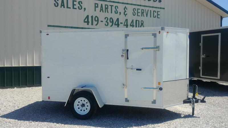 2018 Interstate 5 X 10 Enclosed Cargo Trailer-White