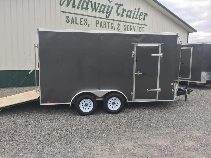 Interstate 7X14 V-Nose Enclosed Cargo Trailer - Charcoal