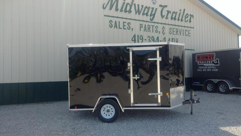 2018 Interstate 6 X 10 Enclosed Cargo Trailer-Charcoal