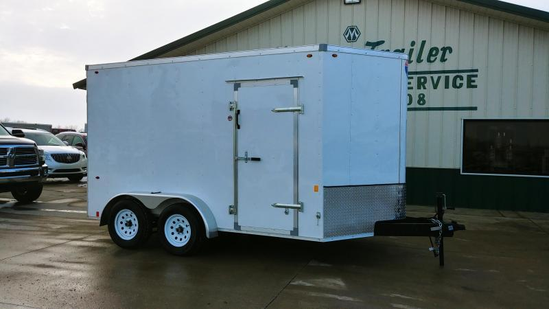 Interstate 7X12 V-Nose Enclosed Cargo Trailer - White