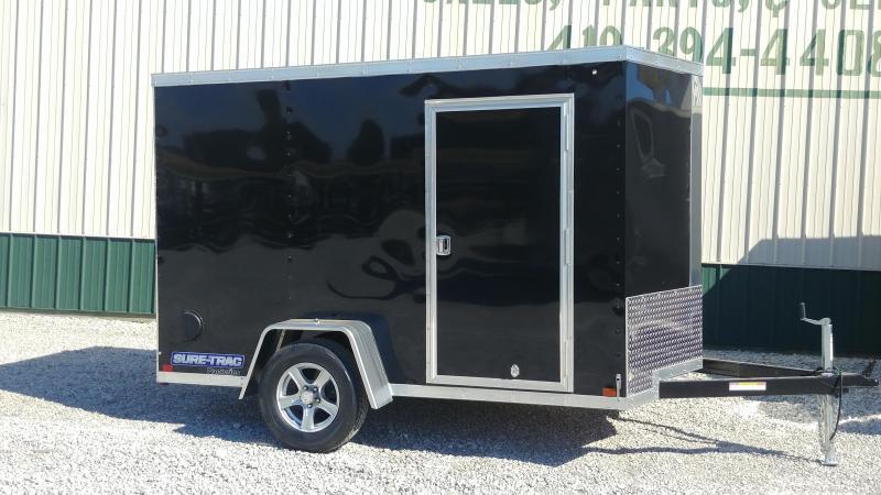 2018 Sure-Trac 6 x 10 Pro Series Wedge Cargo SA Black