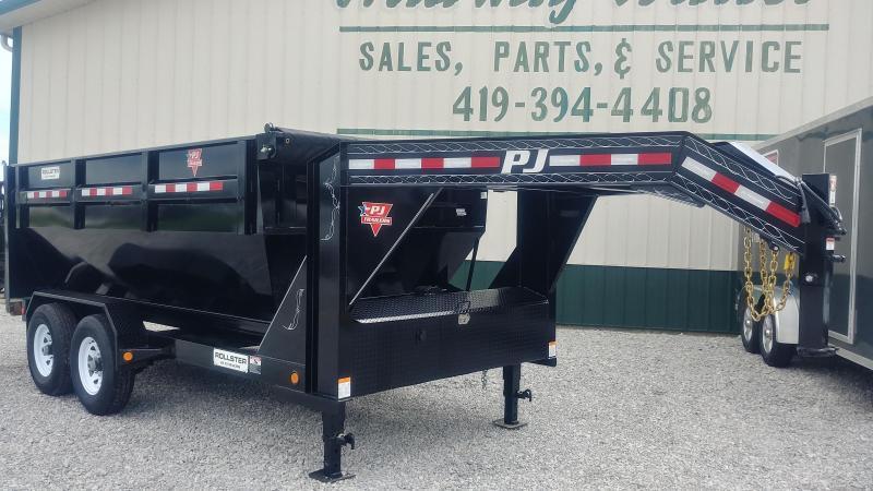 2018 PJ Trailers Rollster 16' Roll Off Dump Trailer 14K