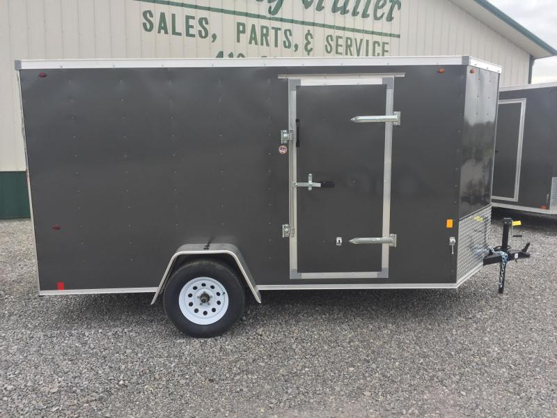 Interstate 6X12 Enclosed Cargo Trailer-Charcoal