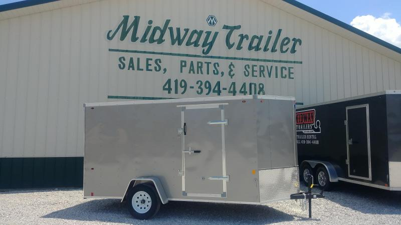 Interstate 7X12 Enclosed Cargo Trailer-Pewter
