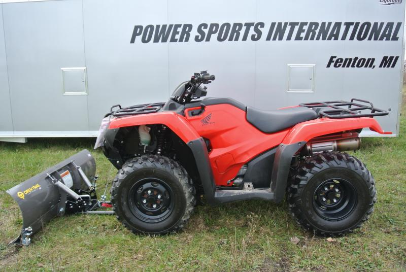 2015 HONDA TRX420FM1F FOURTRAX RANCHER With Winch And Plow #0363
