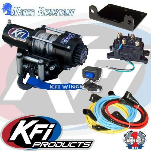 """2017 KFI 60"""" Open Trail Plow and Winch System"""
