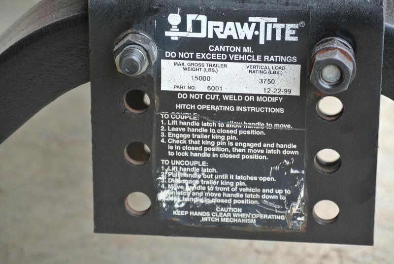 1999 Other Draw-Tite 5th Wheel Trailer hitch Truck Bed