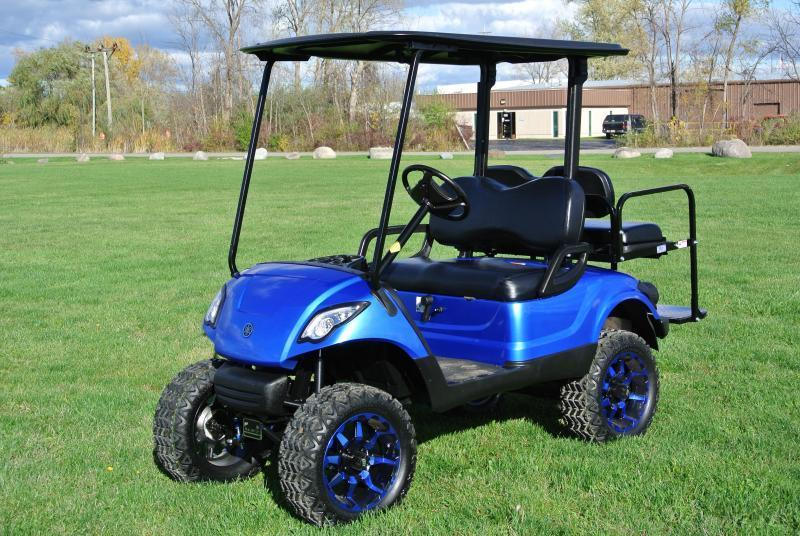 Custom Lifted Gas and Electric Custom Painted Golf Carts **On Sale** Now.