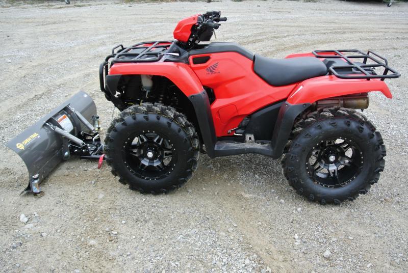 2015 Honda TRX500FM1F Foreman 500 ATV Red With Plow & Winch #1222