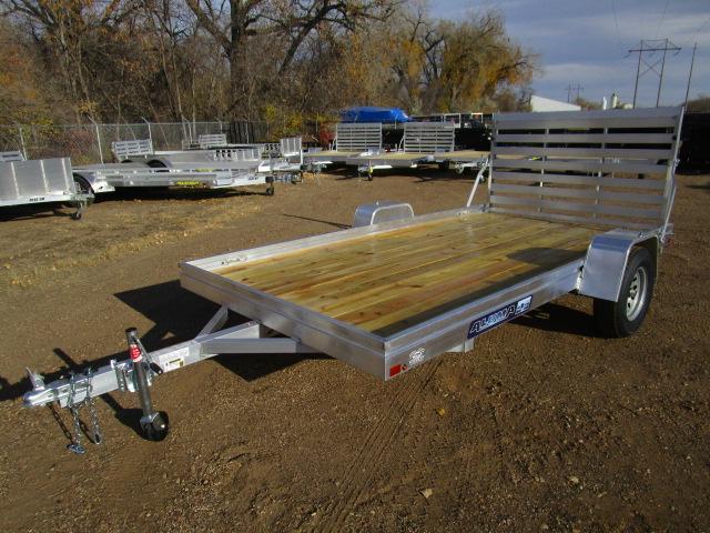 2018 Aluma 7812 Edge Series Wood Deck Utility Trailer