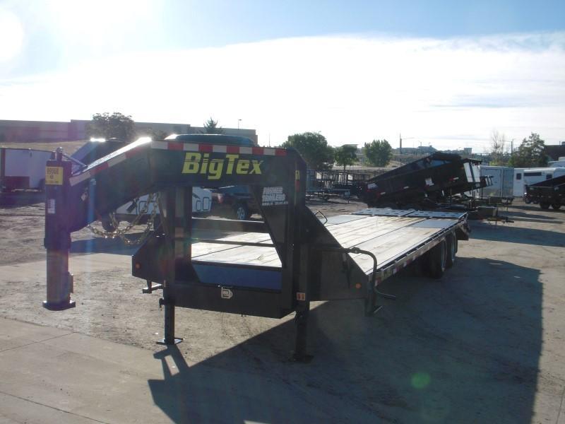 2018 Big Tex Trailers 22GN-25BK+5MR Flatbed Trailer