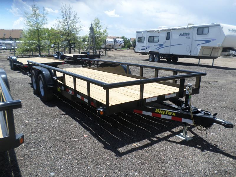 2017 Big Tex Trailers 10PI-18BK Flatbed Trailer