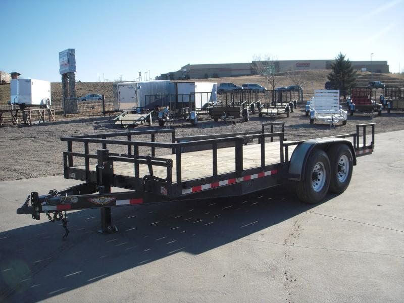 2016 H and H Trailer 8.5HD18 Flatbed Trailer