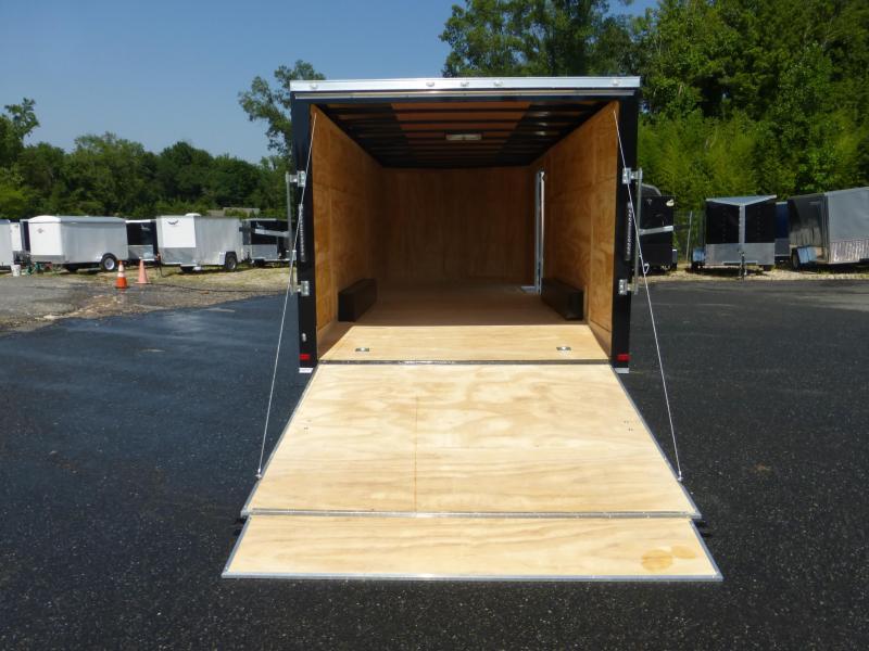 Covered Wagon 8.5' x 20' Black V-Nose Enclosed Car Hauler Trailer