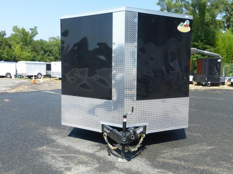 Covered Wagon 8 5 X 20 Black V Nose Enclosed Car Hauler Trailer
