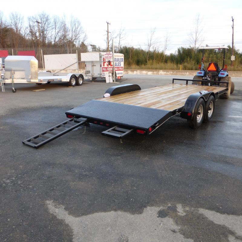Belmont 7 X 18 Wood Deck Car Hauler Trailer New Enclosed Cargo