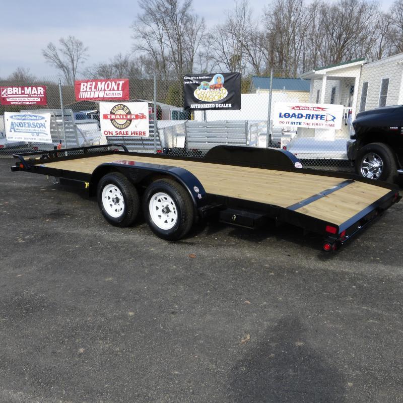 Big Tex Trailers 7 X 18 Wood Deck Car Hauler W Dovetail New