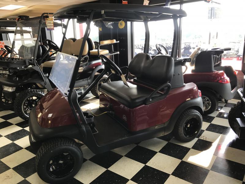 2014 Pre-Owned Club Car Precedent Electric Golf Cart Burgundy