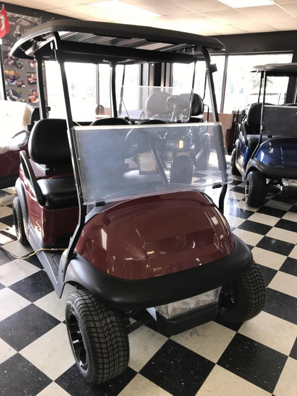 2014 Pre-Owned Club Car Precedent Electric Golf Cart Burgundy