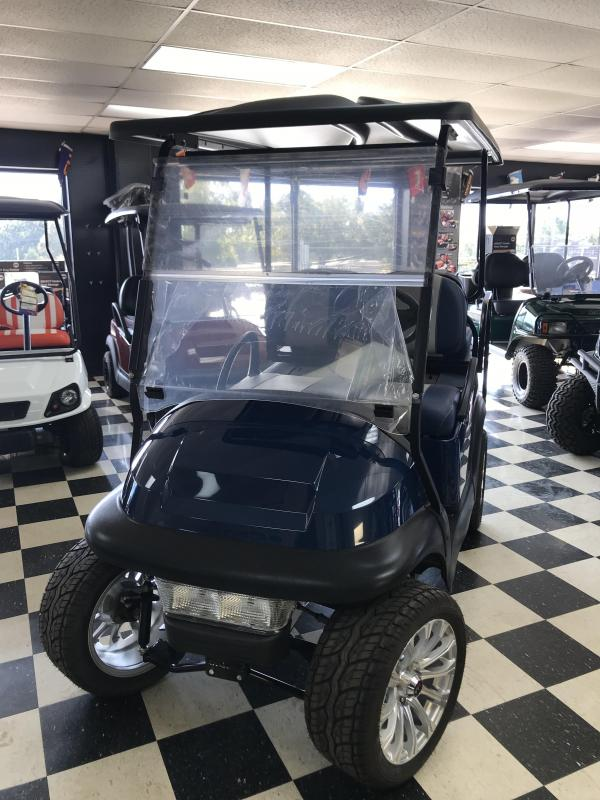 2014 Pre-Owned Club Car Precedent Electric Golf Cart Navy Blue