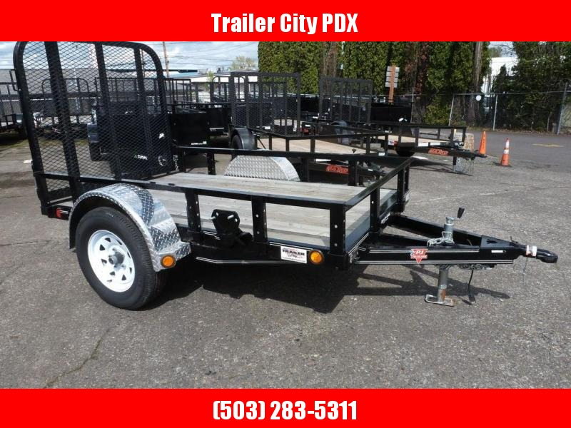 "PJ Trailers 60"" Single Axle Channel Utility (U6) 8'"
