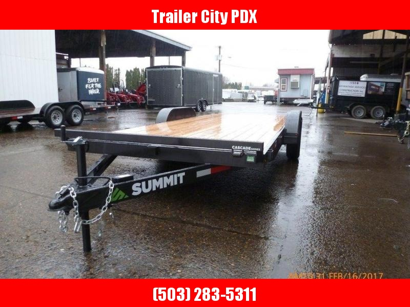 Summit 7X18 FLATBED 10K w/Ramps CASCADE