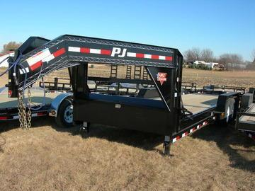2019 PJ Trailers 24 Tiltbed GN Triple Axle Equipment Trailer