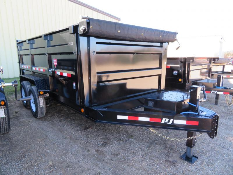 2019 PJ Trailers 14  Low Profile High Side Dump Trailer