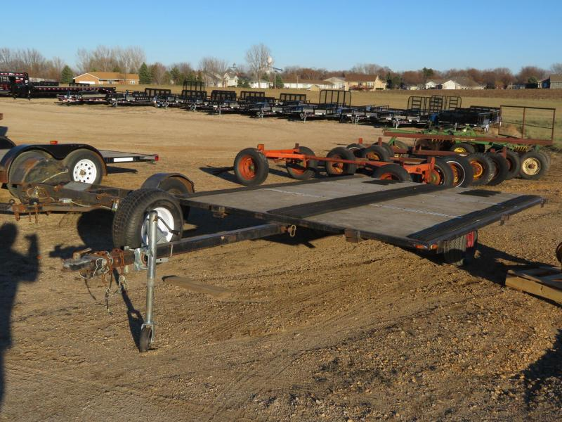 Used Homemade 100 x 12 Snowmobile Tiltbed Trailer