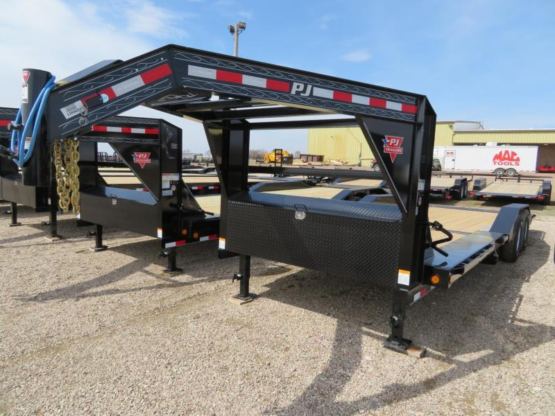2019 PJ Trailers 24 GN Superwide Tiltbed Trailer