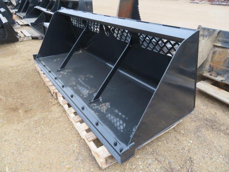 "New Jenkins 108"" Skid Steer High Capacity Snow & Mulch Bucket"