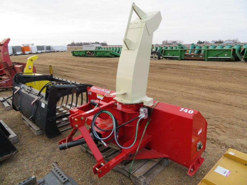 "New Farm King 74"" 3 Point Snow blower"