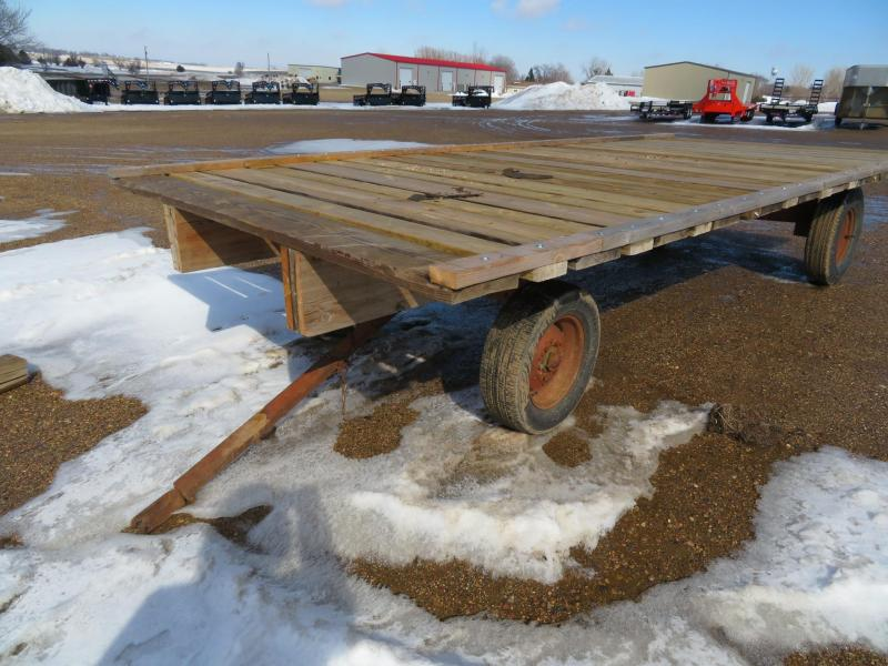 Used 8 x 18 Hay Flatbed on Running Gear