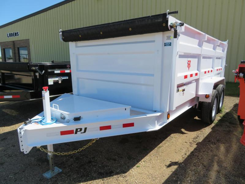 2020 PJ Trailers 14 Low Profile High Side Dump Trailer
