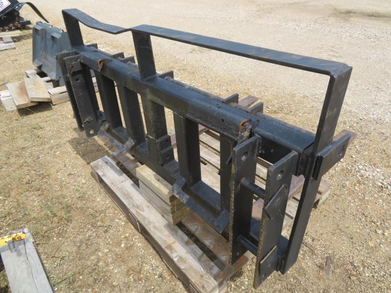 Used Black Skid Steer Pallet Forks