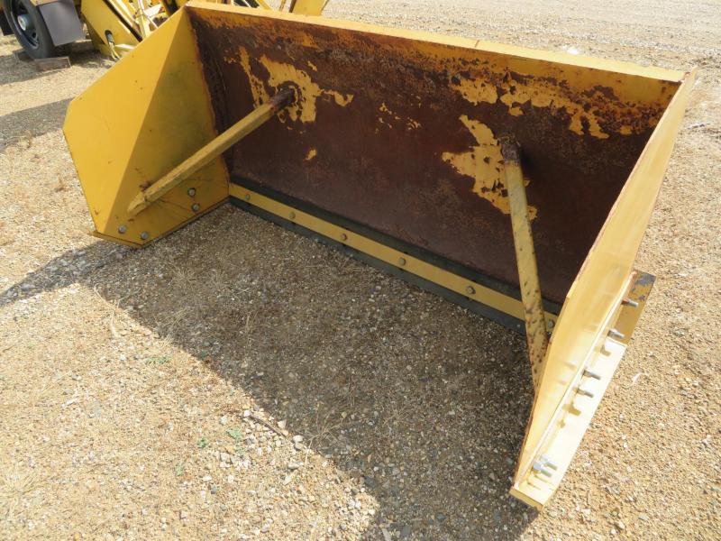 Yellow 6' Skid Steer Snow Pusher