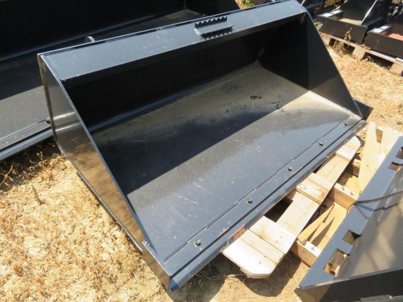 "New Jenkins 68"" Skid Steer Bucket - bolt on cutting edge"