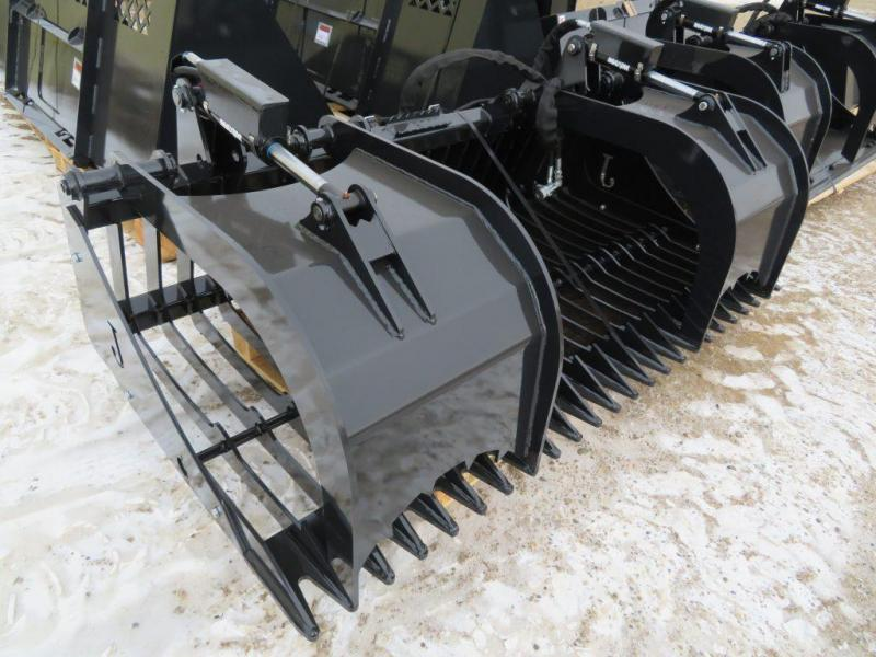 "New Jenkins 78"" Skid Steer Rock Bucket with Grapple"