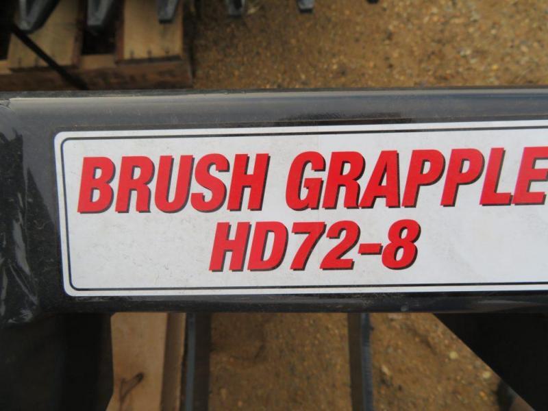 """New Stout 72"""" Brush Grapple Bucket for Skid Steer Loader"""
