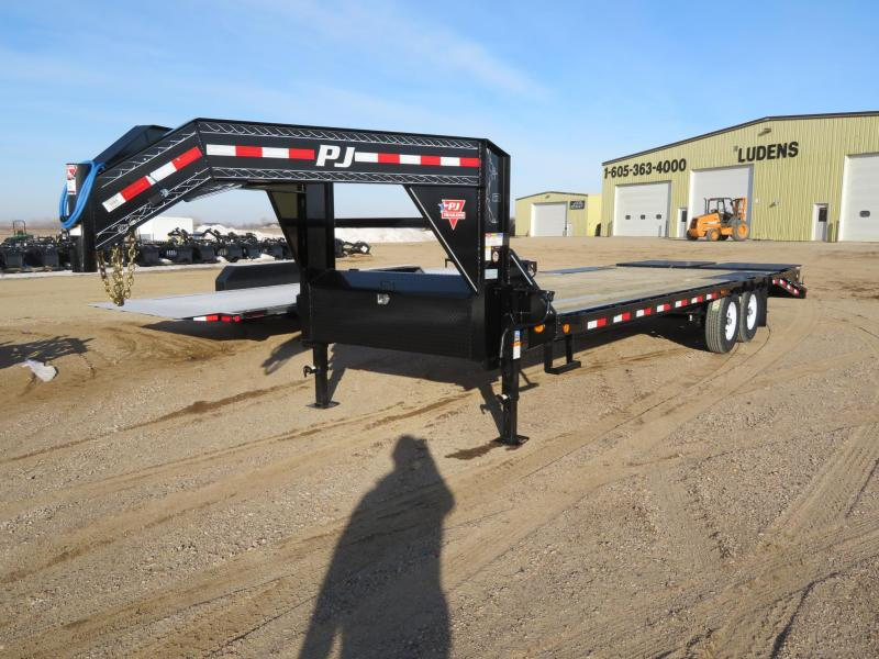 2020 PJ Trailers 26 Low Profile GN Trailer w/ Monster Ramps