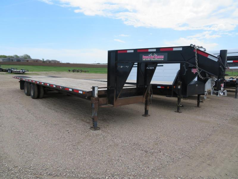 2014 Finish Line 32 Hydraulic Tail GN Trailer
