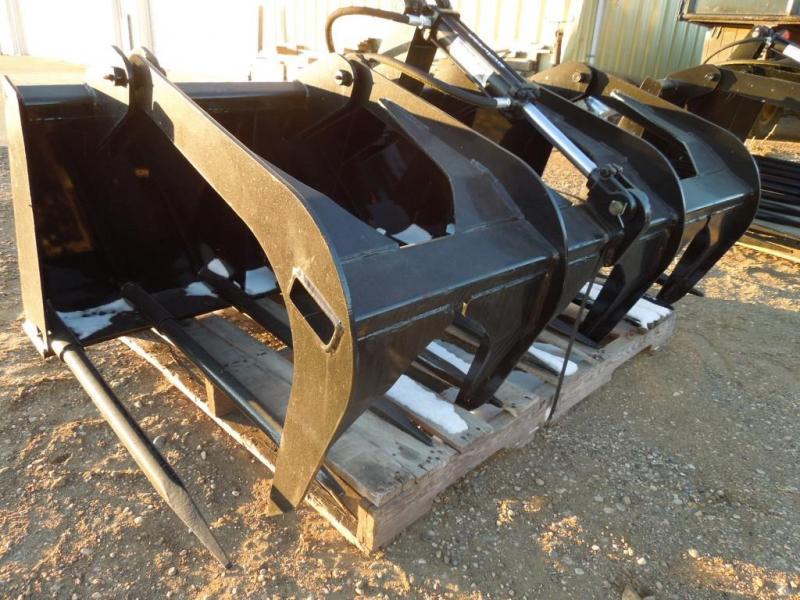 "New TS 66"" Manure Tine Bucket - w/Skid Steer mount"
